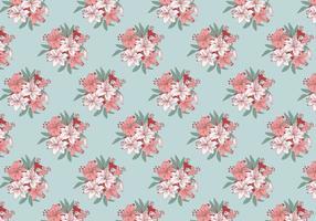 Rhododendron Padrão Vector Padrão