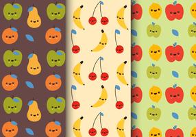Teste padrão livre de sorriso da fruta vetor