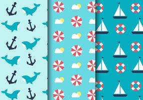 Mar livre padrão náutico vetor