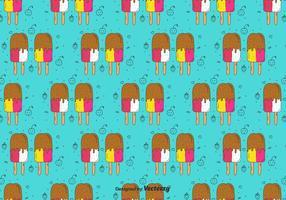 Teste padrão do Doodle dos Popsicles vetor