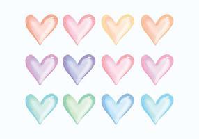 Vector mão desenhado coração coleção