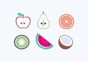 Ícones das frutas do vetor