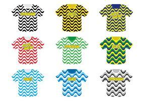 Coleção do Tshirt de Copacabana vetor