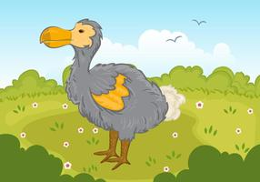Dodo Bird No Parque Vector