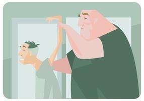 Velhos homens com fisioterapeuta Vector