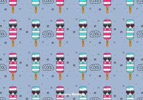 Fresco, sorvete, vetorial, padrão