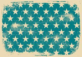 Fundo patriótico do Grunge das estrelas azuis vetor