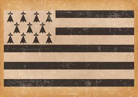 Bandeira de Brittany no fundo do grunge vetor