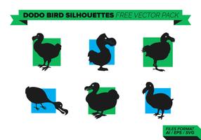 Dodo Bird Silhouettes pacote de vetores grátis