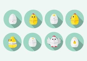 Chick Egg Temporizador Vector