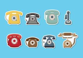 Retro, telefone, vetorial vetor