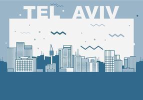 Cidade de Tel Aviv vetor