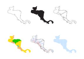 Vector América Central Mapa