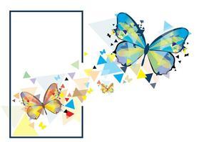 ilustração mariposa mosaico vetor