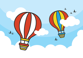 Vetores balão de ar quente coloridos