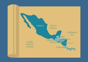América Central Mapa Vectors