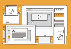 Ilustração livre Design Plano Vector Digital Media