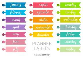 Etiquetas Vector Planner
