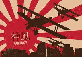 Cartaz de Kamikaze vetor