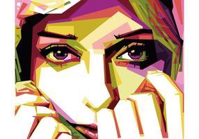 Hijab menina WPAP vector