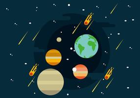 Ilustração Sistema Solar vetor