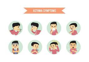 Os sintomas da asma vetor