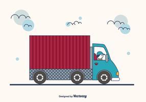 Background Camion dos desenhos animados vetor