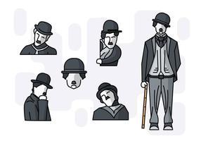Livre exclusivo Charlie Chaplin Vectors