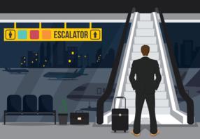 Escada rolante Ilustração vetorial vetor