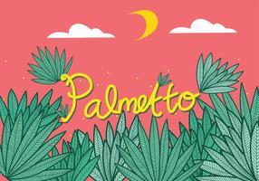 Palmetto Folhas Arte Vetor
