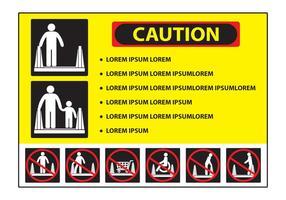 Sinal de precaução da escada rolante vetor