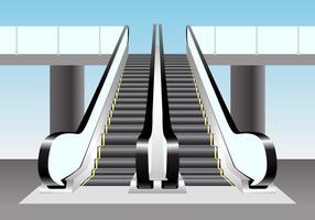 Cena do vetor da escada rolante