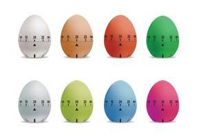 Conjunto de vetores do temporizador de ovos
