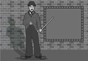 Ilustração de Charlie Chaplin vetor