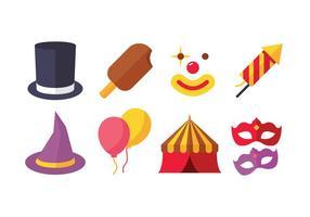 Pacote de ícone de carnaval vetor