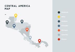 Vetor do mapa da América Central