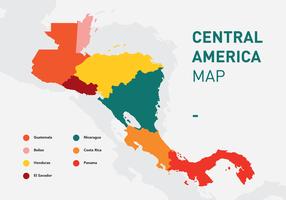 Mapa vetorial da América Central
