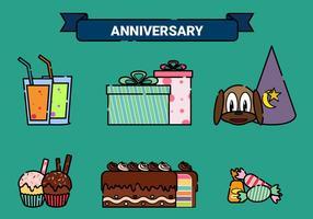 Elementos do vetor do aniversário