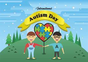 Arte internacional do vetor do dia do autismo