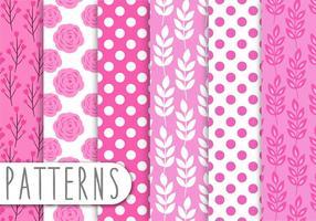 Rosa padrão floral conjunto vetor
