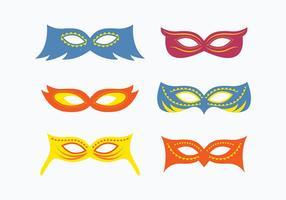 Coleção da máscara do disfarce do divertimento vetor