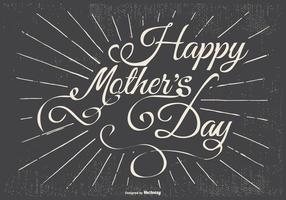 Ilustração tipográfica do dia de mãe feliz vetor