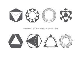 Coleção abstrata das formas vetor