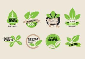 Doce, stevia, etiqueta, vetorial, cobrança vetor