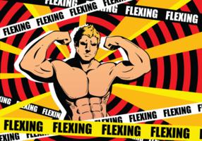 Flexão, vetorial, Ilustração vetor