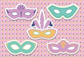 Vetor de máscara de carnaval