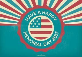 Ilustração retro do Memorial Day do estilo vetor