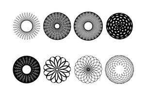 Coleção abstrata das formas do vetor