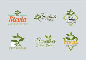 Coleção do vetor do logotipo da etiqueta do Stevia