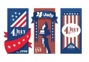 Vetores do cartaz do Dia da Independência